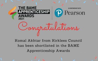 Komal Akhtar – Shortlisted for BAME Apprenticeship Awards